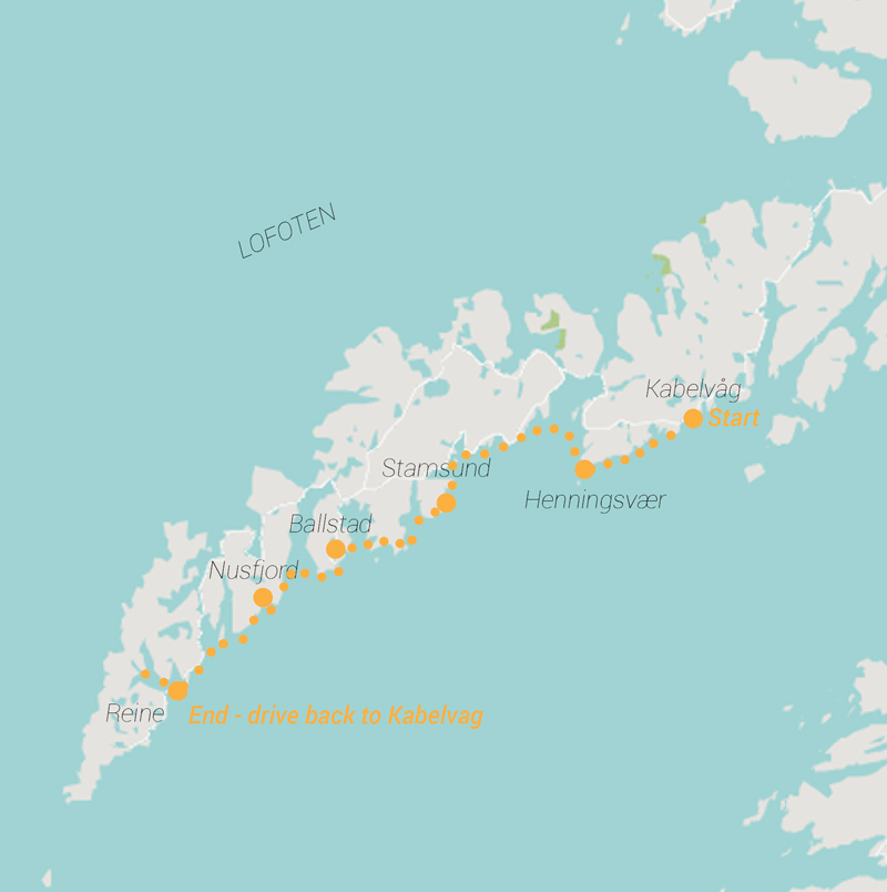 Expedition Engineering Route map for Norway Trip