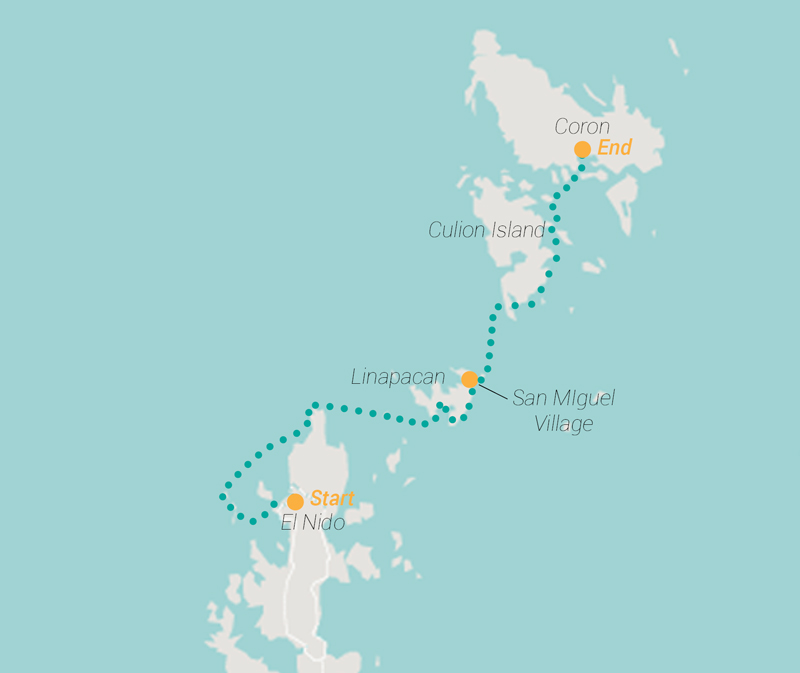 Expedition Engineering Route map for Palawan Trip