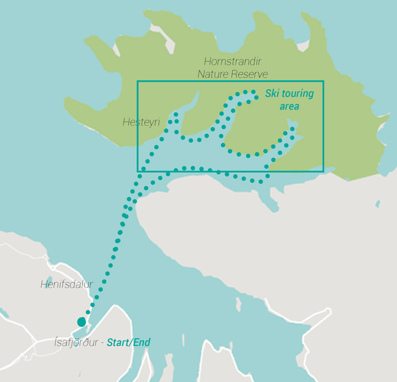 Expedition Engineering Route map for Iceland Ski Trip