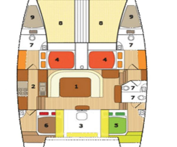 Kamchatka Ski Sail Adventure Yacht Layout