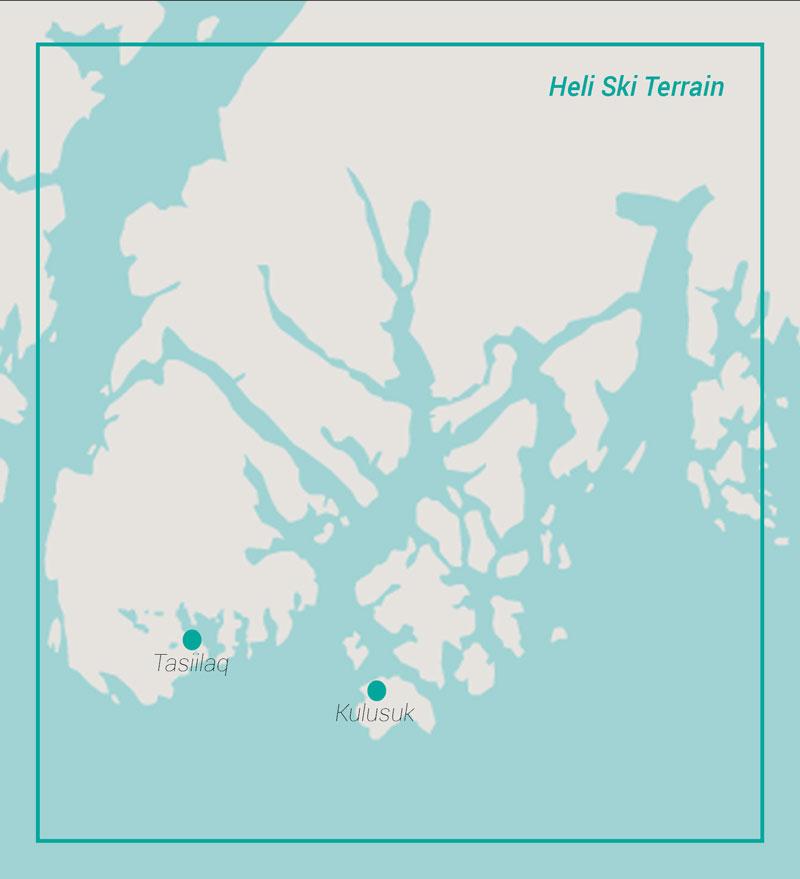 Greenland Heli Ski Map