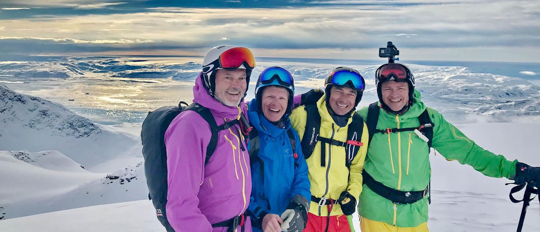 heli skiing in East Greenland