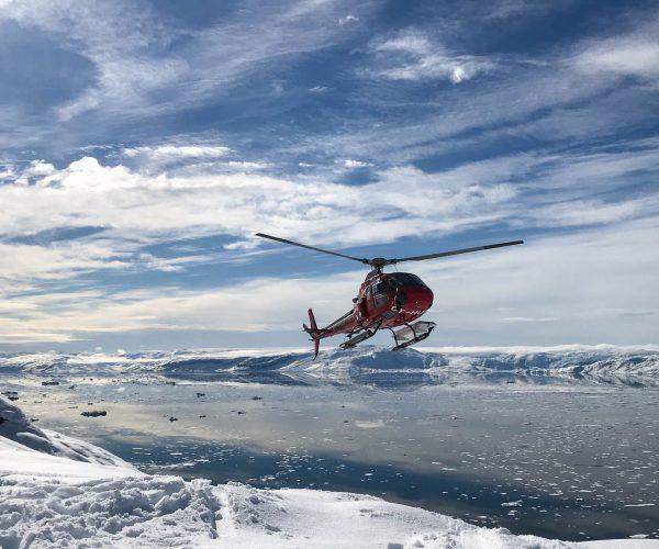 heli skiing in Greenland