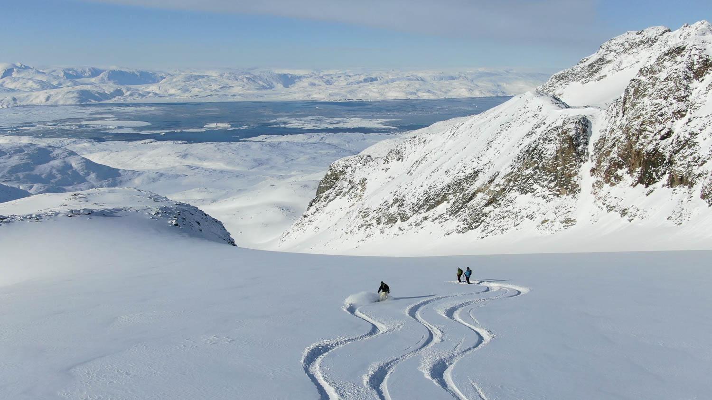 heli skiing in Tasiilaq, East Greenland